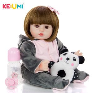Amazing Reborn Newborn 18 Inch Lifelike Silicone Soft Cotton Body 48 cm Realistic Babies Toy Christmas Present Bedtime Playmates