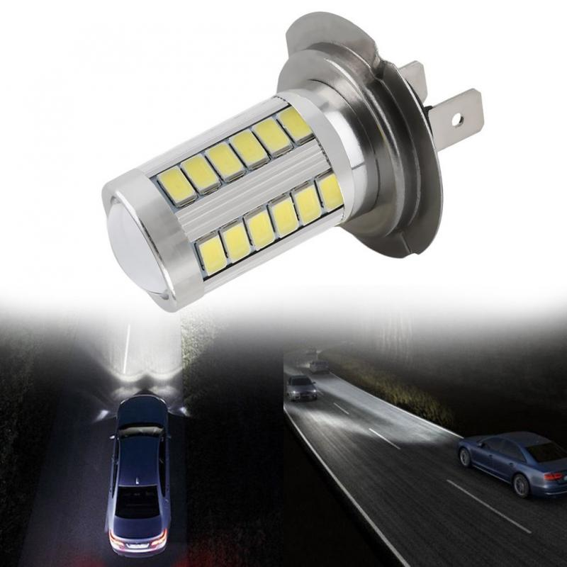 1/2 Pcs H7 Super Bright White 5630 SMD 33 LED Auto Car Fog Driving Light Lamp Bulb Decorative Lights Dropshipping