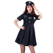 Ladies Navy Blue Cop Police Woman Costume Uniform Party Fancy Dress Hens Outfit cosplay costumes(China)