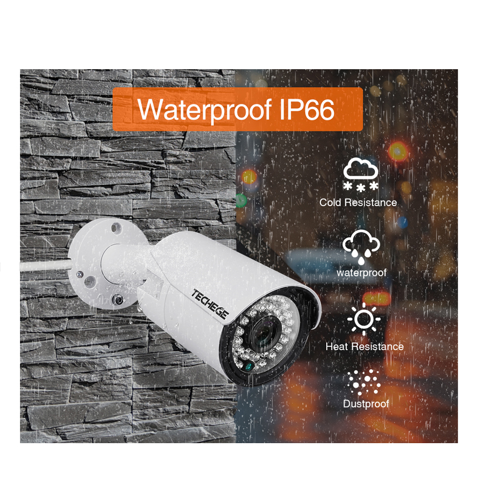 Image 5 - Techege H.265 8CH POE System 4.0MP Audio IP Camera Metal Outdoor Waterproof Network Camera CCTV Security System Surveillance Kit-in Surveillance System from Security & Protection