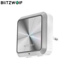 BlitzWolf BW LT14 DC 5V 2.4A ue wtyczka inteligentne gniazdo wtykowe inteligentna żarówka czujnik LED lampka nocna z podwójnym gniazdo ładowania USB