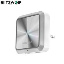Blitzwolf BW LT14 Dc 5V 2.4A Eu Plug Smart Socket Plug In Smart Light Sensor Led Nachtlampje Met dual Usb Opladen Socket
