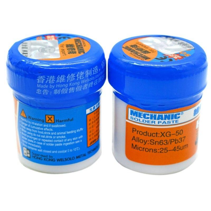 Паяльная паста Flux XG-80 XG-50 XG-30 олово для пайки Sn63/Pb67 для Hakko 936 TS100 паяльник для подключения к печатной платы SMT SMD ремонт инструмента