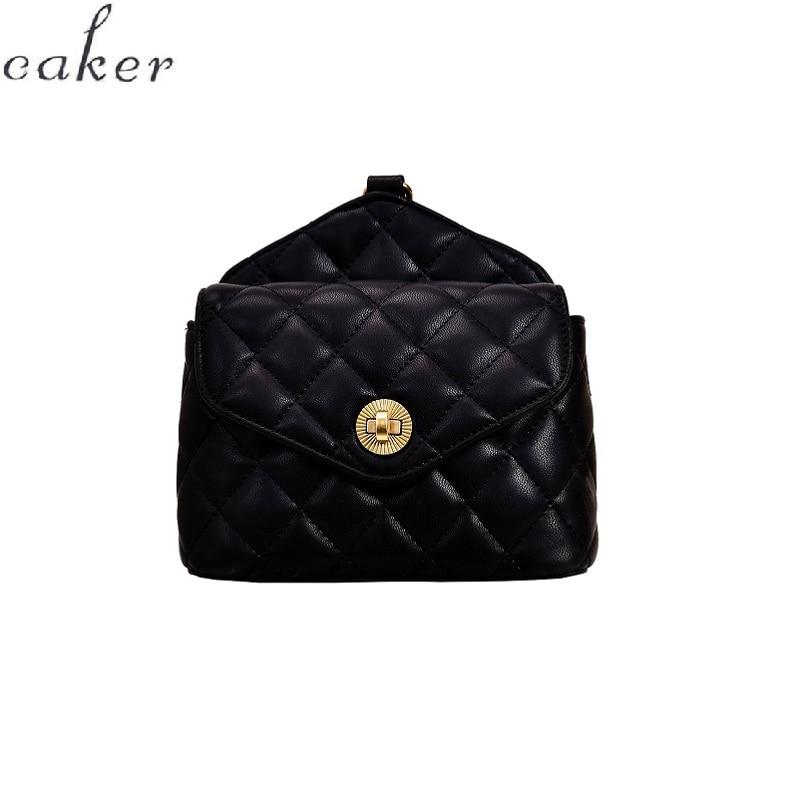 Caker Brand Women Diamond Lattice Waist Bag Fanny Waist Pack Ladies Chest Bags Wholesale