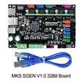 3D Parti Della Stampante Scheda del Controller MKS Sgen V1.0 Smoothieboard 32Bit Smoothieboard mks sbase aggiornato tmc2130 tmc2208 tmc2209