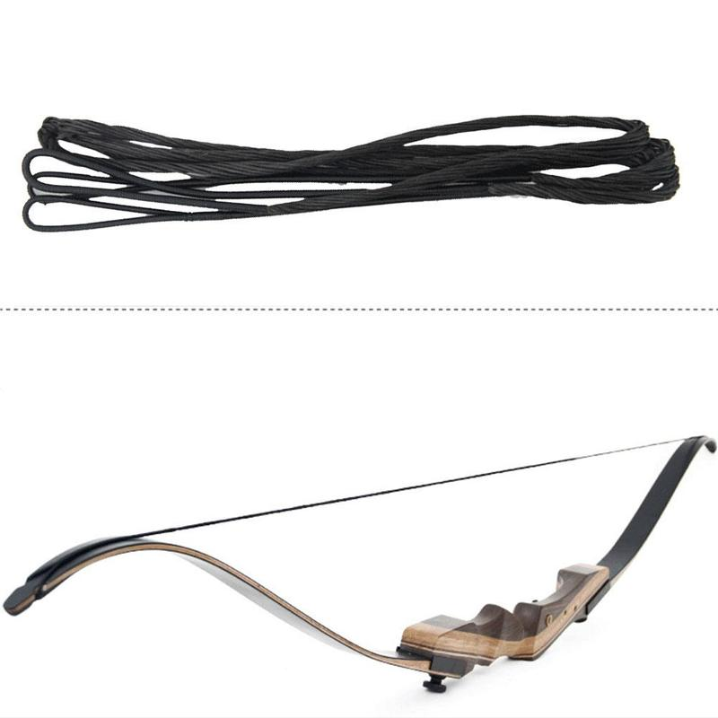 Outdoor Archery Accessories Black Bow String Rope Archery Recurve String 12 Strands Traditional String Rope Different Size
