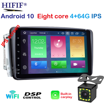 8 DSP IPS SCREEN Android 10 2 DIN Car DVD player For Benz CLK W209 W203 W168 W208 W463 W170 Vaneo Viano Vito E210 C208 GPS PC image