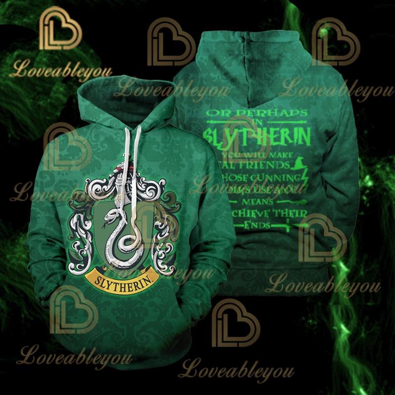 Wizardry Men And Women Gryffindor Slytherin 3d Men Pullover Hoodie Sweatshirt Cosplay Costume Streetwear Hoodies Sweatshirt