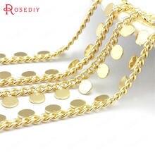 (39681)1 metro 24k cor de ouro bronze com forma redonda colar especial pulseiras cadeias jóias que faz suprimentos conclusões diy