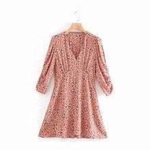 COZARII 2019 summer dress women vestidos casual style print V-Neck straight mini de fiesta party tops plus size