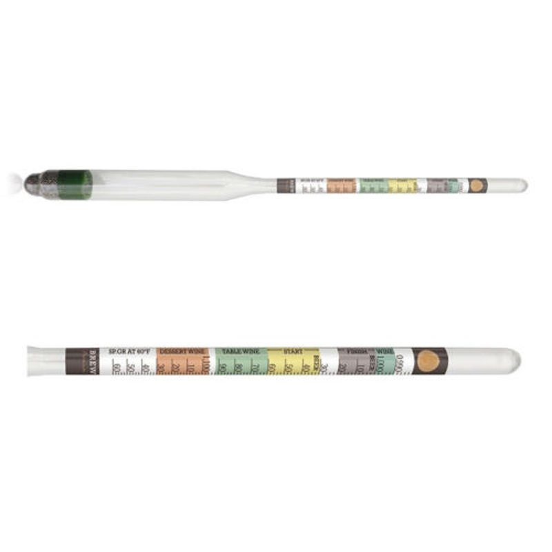 1 Piece 28x 5x2.5cm Glass Hydrometer For Homes Brewed Beer Wine Mead Kombucha Making Bar Accessories