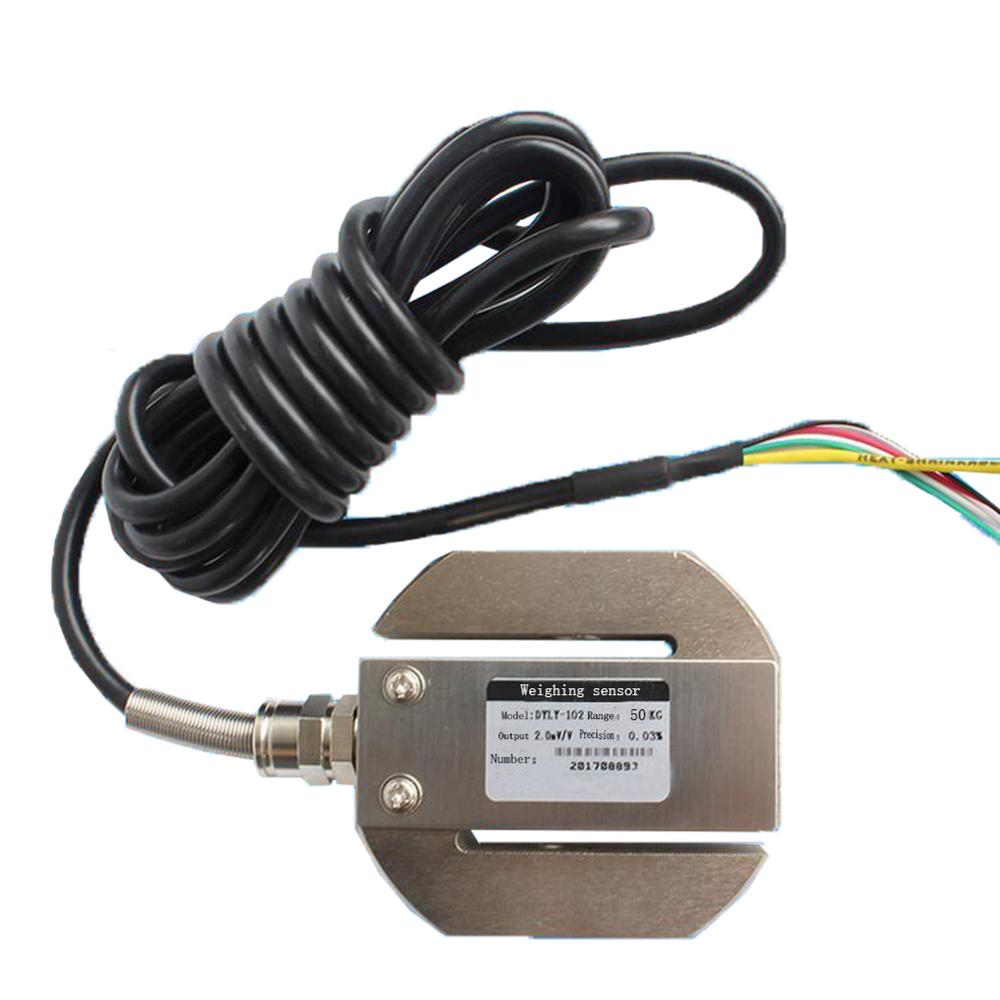 DYLY-102 Round S Type Tension Pressure Miniature Load Cell 50KG Weighing Sensor CE0163C