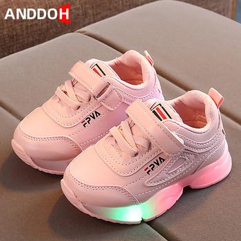 Rozmiar 21-30 dziecięce buty na co dzień świecące tenisówki dziecięce Led Light Up maluch dziecięce buty Unisex trampki ze świecącą podeszwą tanie i dobre opinie ANDDOH 4-6y 7-12y 12 + y CN (pochodzenie) CZTERY PORY ROKU Damsko-męskie RUBBER Dobrze pasuje do rozmiaru wybierz swój normalny rozmiar
