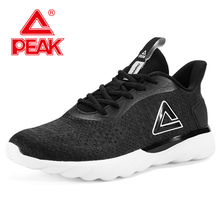 PEAK Men Running Shoes Breathable Mesh Lightweight Sneakers Cushion Flexible Durable Outdoor Sports Shoes Athletic Footwear mizuno men s paradox 4 running shoes wave cushion stability sneakers light breathable sports shoes j1gc174002 xyp570