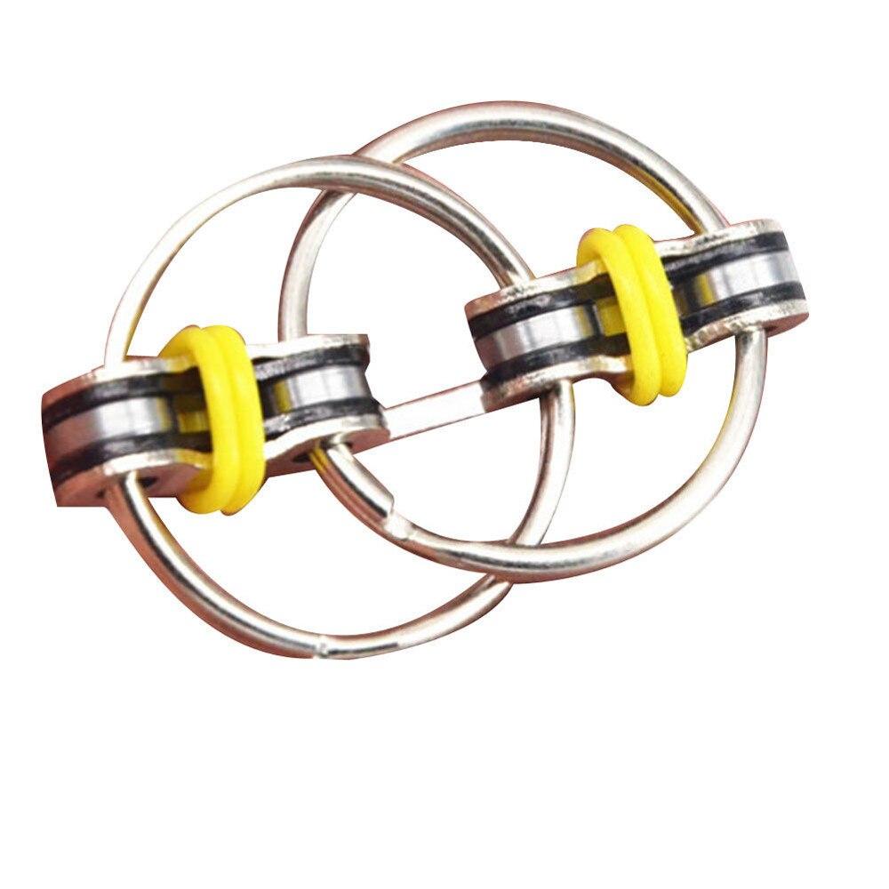 Sensory Toys Chain Fidget-Toy Key-Ring Hand-Spinner Stress-Relieve Metal Desestresantes img2