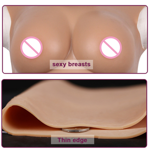 Image 5 - 3rd Generation M  C Cup Fake Tits Silicone Chest Shemale Cosplay Crossdressering Drag Queen Fake Boobs Shemale Breast Ladyboy