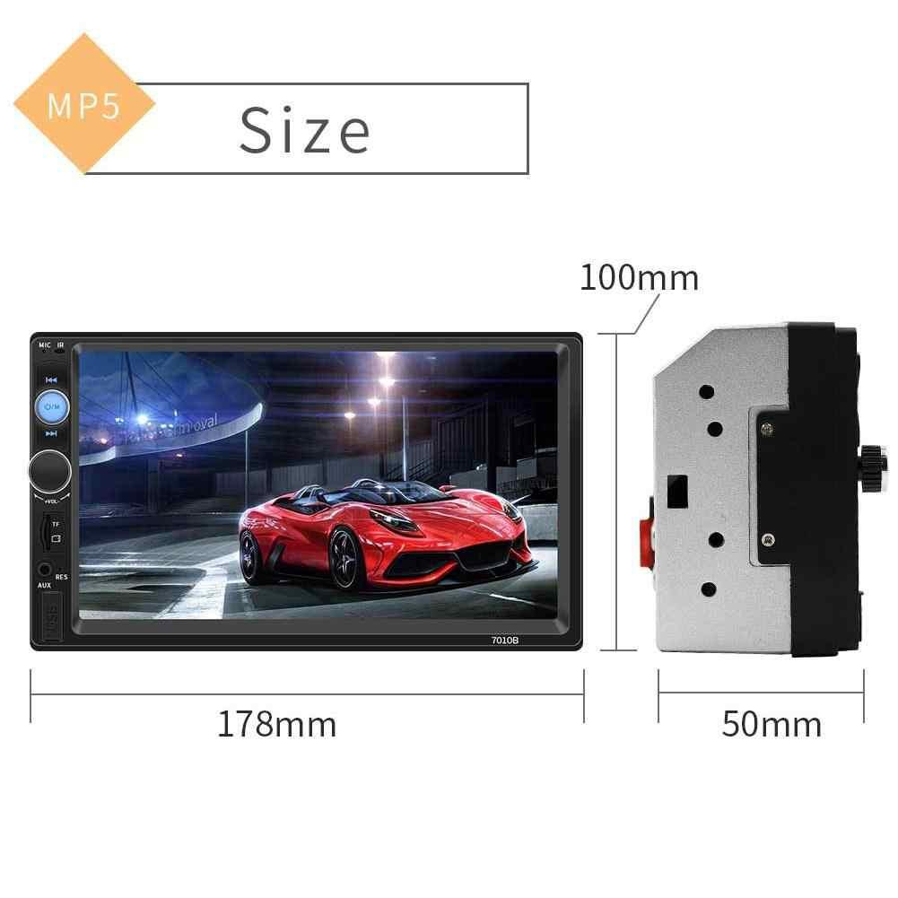 Autoradio stéréo, écran tactile HD, lecteur MP5, Bluetooth, USB, AUX, compatible caméra de recul, 2 Din, pour voiture