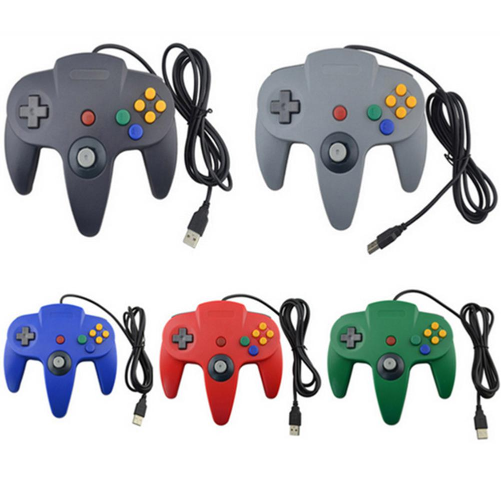 Wired N64 Gamepad Joypad Joystick Game Pad For Gamecube For Mac Gamepads PC game controller joystick image