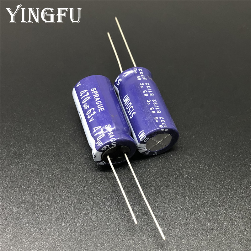 5Pcs 470uF 63V SPRAGUE 515D Series 13x25mm 63V470uF High Quality Audio Capacitor Aluminum Electrolytic Capacitor