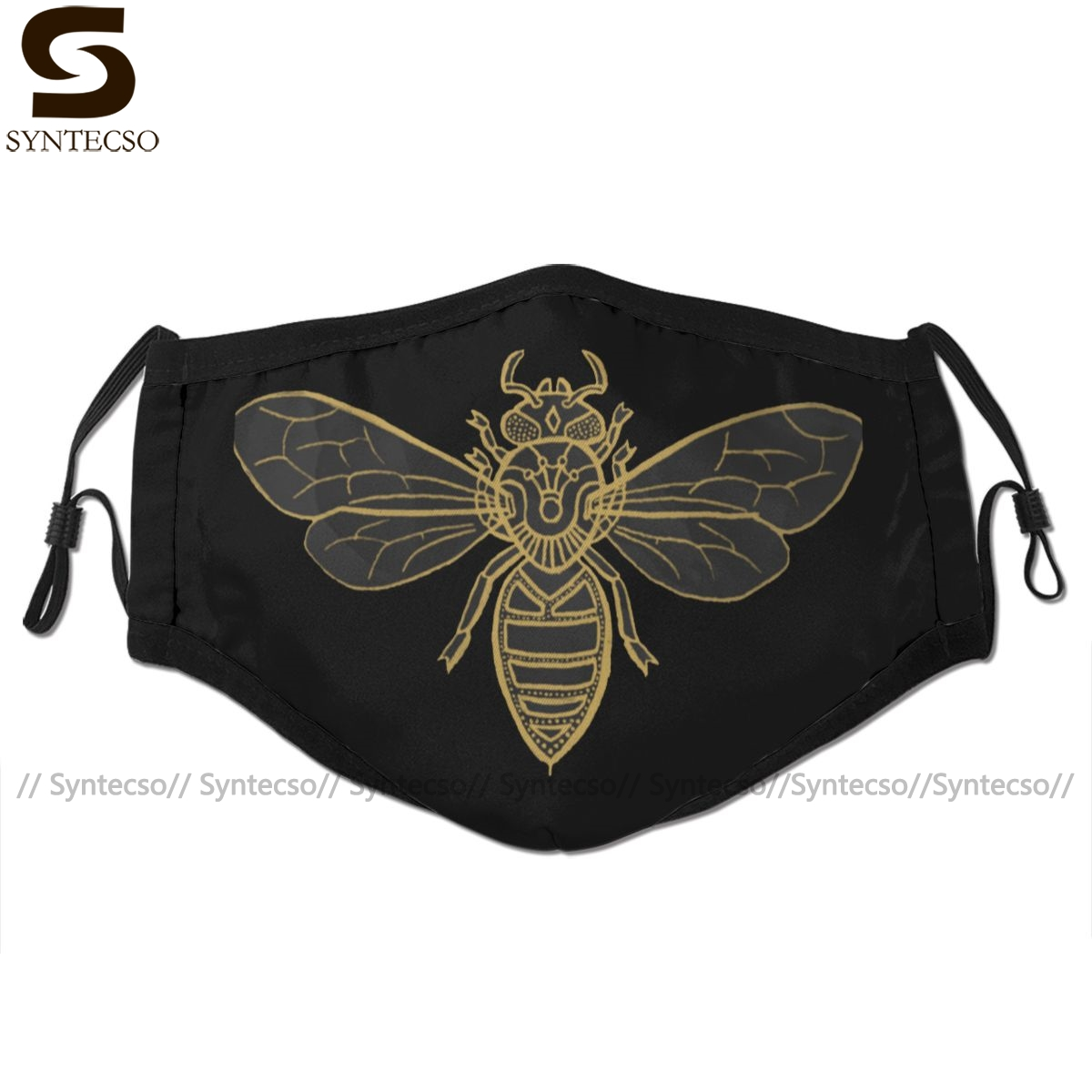 Bee Mouth Face Mask Mandala Bees Facial Mask Fashion Funny With 2 Filters For Adult