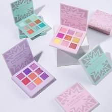 9 colori Shimmer Eyeshadow Palette Glitter Matte Metallic Eye Shadow Powder Waterproof trucco cosmetico a lunga durata TSLM2