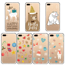 цена на phone cover new year christmas gift deer tree soft phone case for iphone 11 5 5s 6s 6 s 7 8 pro plus se x xr xs max