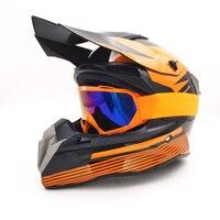 Upbike moto rcross atv bicicleta da sujeira downhill capacete da moto cicleta cascos moto rcycle engrenagens de proteção moto capacete + óculos
