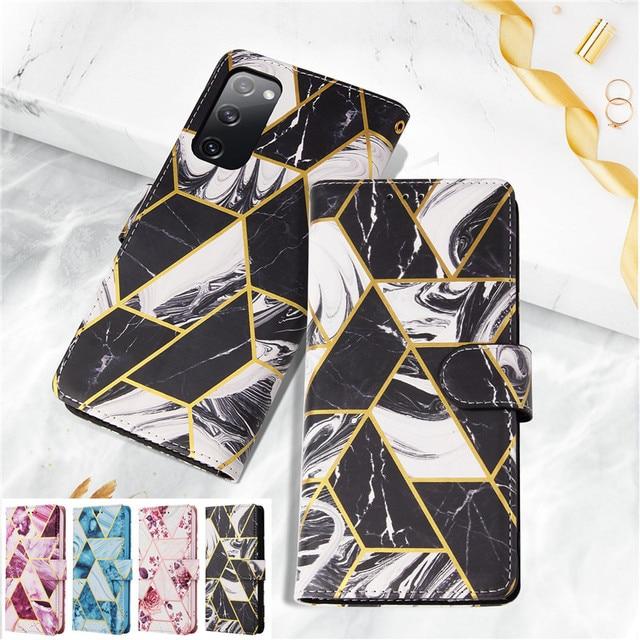 Moda Flip standı kılıf Samsung Galaxy S20 FE S21 artı S10 S9 S8 not 20 Ultra 10 Lite cüzdan kart kapak Coque Etui