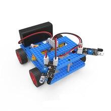 diy electronic kit set Assembled Toy for stem education Barrier trolley/Steamship/crane
