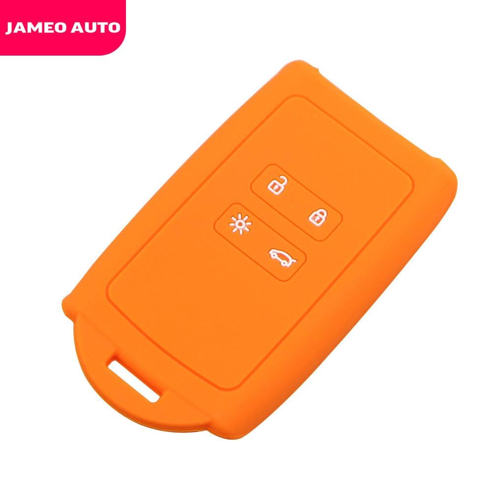 Jameo Auto Silicone Car Key Case Protection Cover For Renault Koleos Kadjar Samsung QM5 QM6 2016-2020 Holder Protector Covers