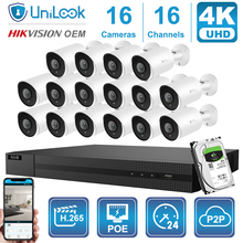 8MP Poe-Ip-Camera P2p-View Security Nvr-Kit Audio CCTV Night-Vision H.265 16CH Unilook