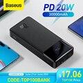 Baseus Power Bank 30000mAh Tragbare Lade Poverbank Handy Externe Batterie Schnell Ladegerät Power 20000mAh für XiaoMI