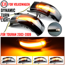 For VW For Volkswagen Touran 2003 2009 Dynamic LED Turn Signal Side Wing Mirror Indicator Sequential Flashing Light