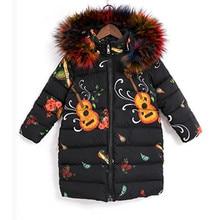 2020 Winter Girls Warm Coat Fashion Artificial Fur Hooded Kids Jacket