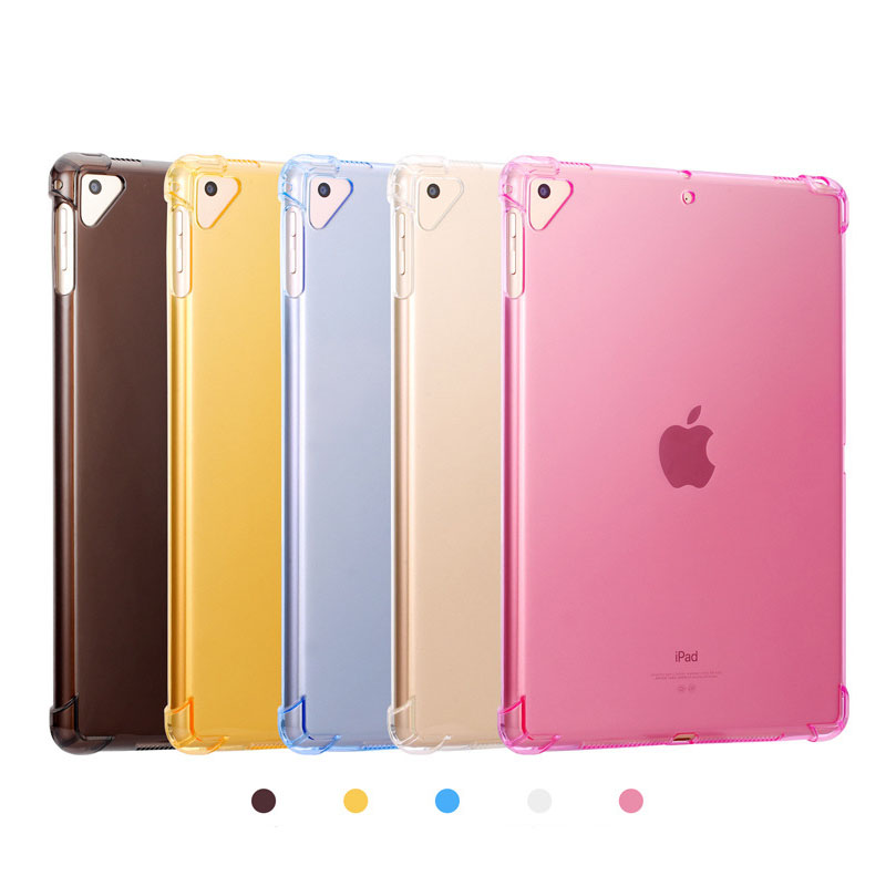 Luxury Candy Color Case For Ipad 9 9.7 Inch Silicone Shockproof Full Protective Clear Soft TPU Transparent Cover For Ipad 9 Case