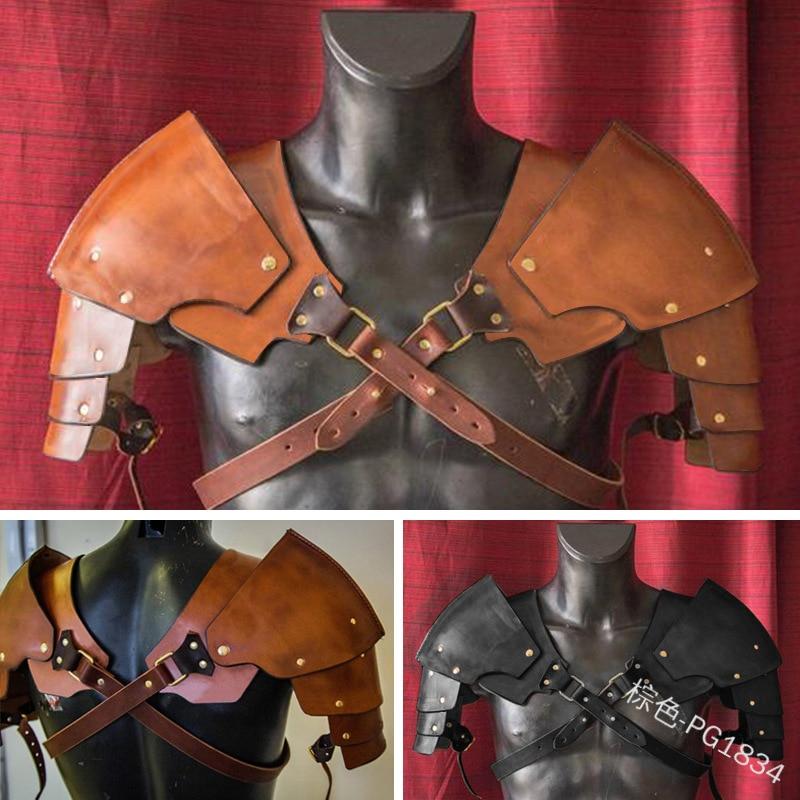 Steel armor pauldron for gladiator metal cosplay shoulder warrior armor custome