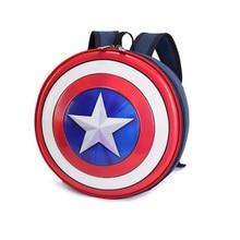 Backpack School-Bags Captain-America Baby Kids for Round-Shape Mini Children