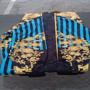 Image 5 - Chemise à manches longues pour hommes, de haute qualité, style ethnique, à la mode, chemise imprimée 3D, collection été décontracté