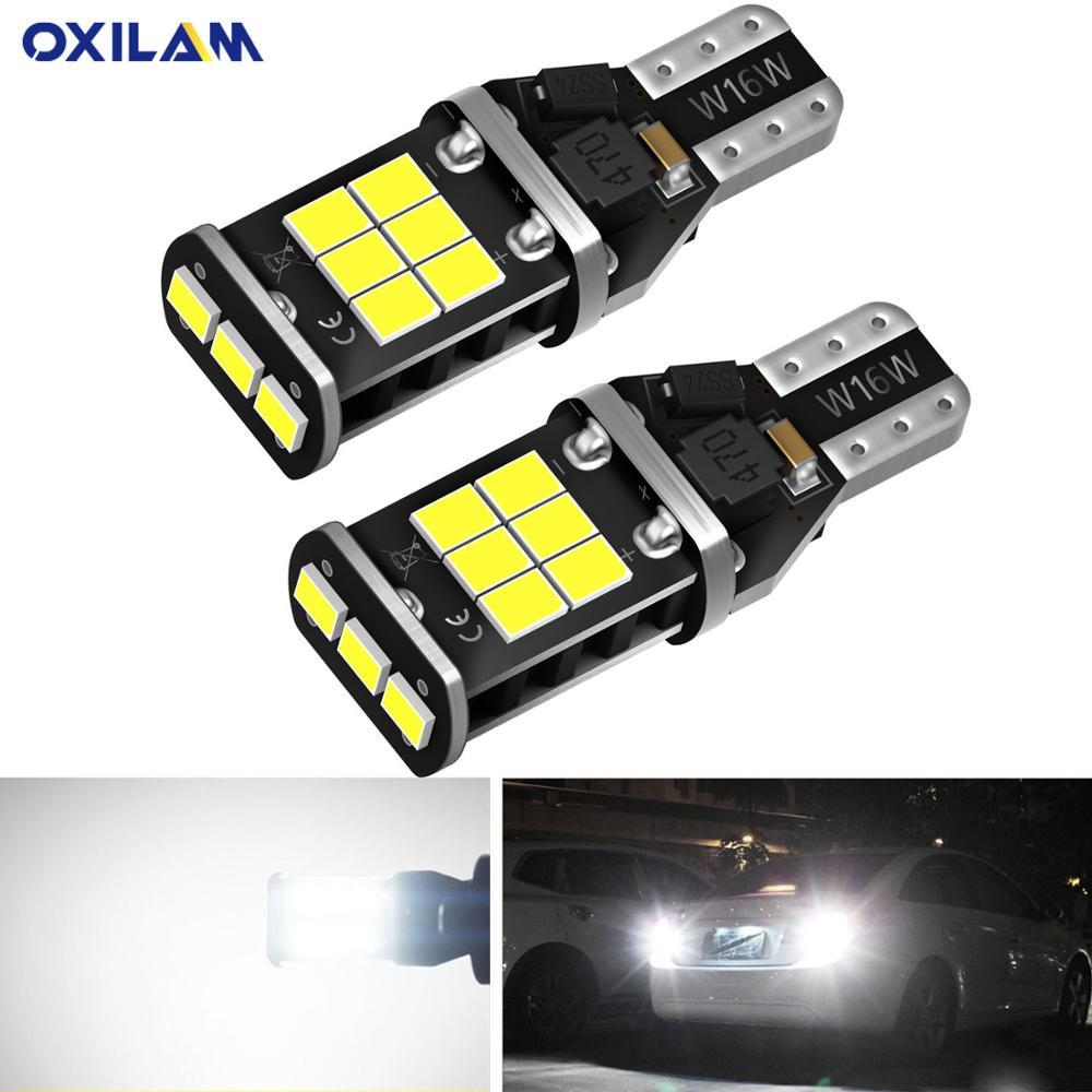 OXILAM 2x W16W T15 светодиодный светильник CANBUS OBC без ошибок 2835 SMD СВЕТОДИОДНЫЙ резервный светильник 921 912 T16 светодиодный фонарь для автомобиля