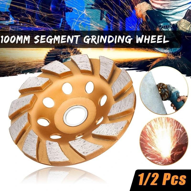 100mm Segment Grinding Wheel Wheel Grinder Concrete Granite Stone On Sale Hot