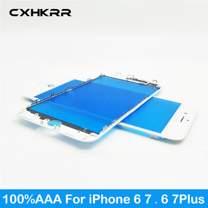 100% AAA Touch Panel Replacement For iPhone 6g 6s 6 Plus 7 7plus Front Outer Screen Glass Lens With Frame bezel Repair parts