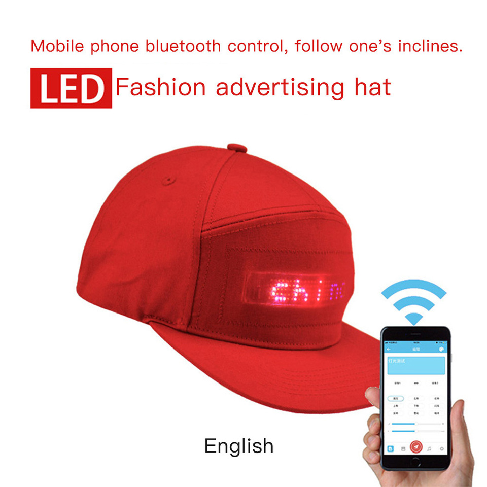 Led Magic Display Bluetooth Light Hat Cap Riding Safety Hat English Bluetooth App Free To Change The Word Black New Hot 2019 Cycling Caps Aliexpress