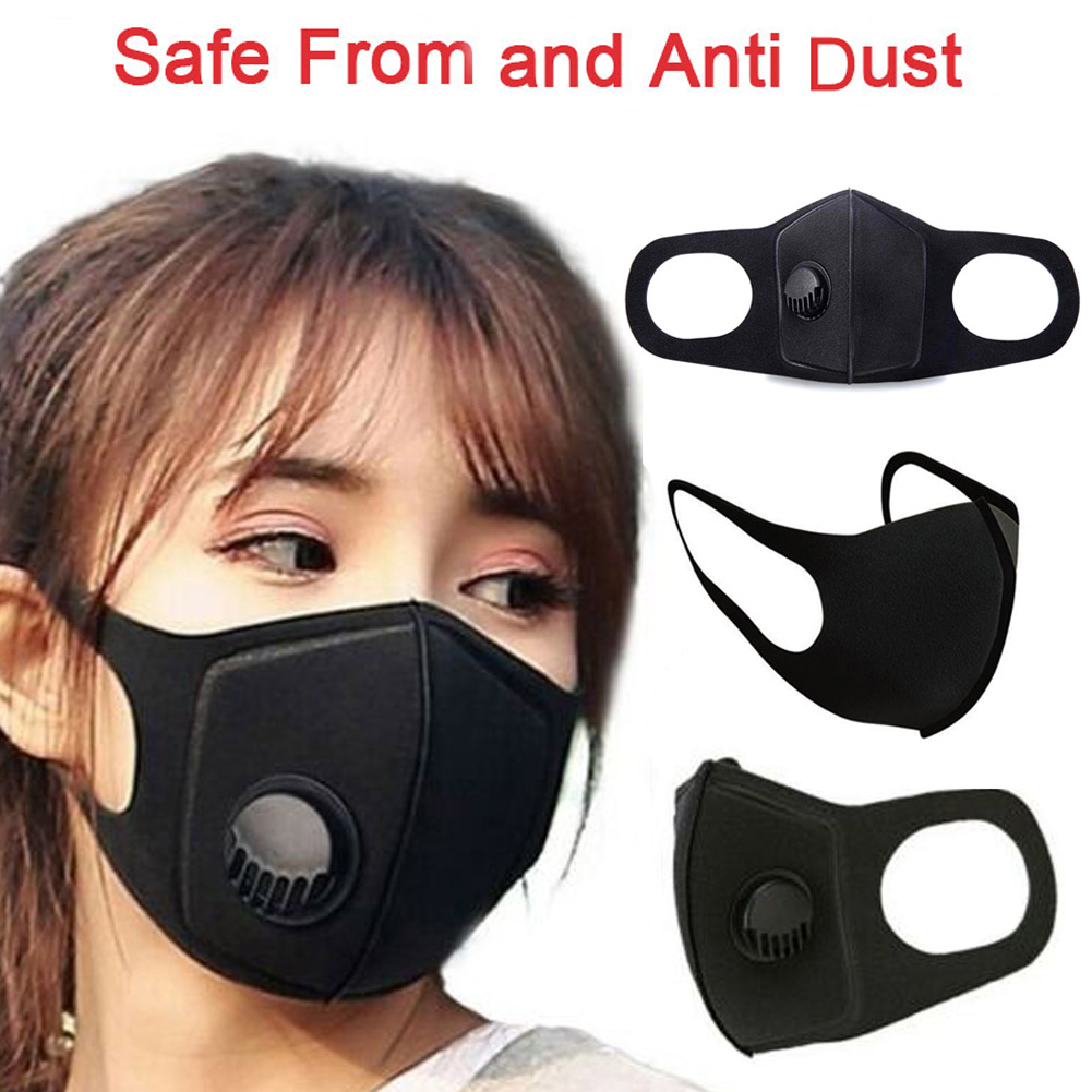 Unisex Anti PM 2.5 Fog Mouth Face Mask Respirator Filter Windproof Dustproof Waterproof Outdoor Cycling Camping Protective Masks