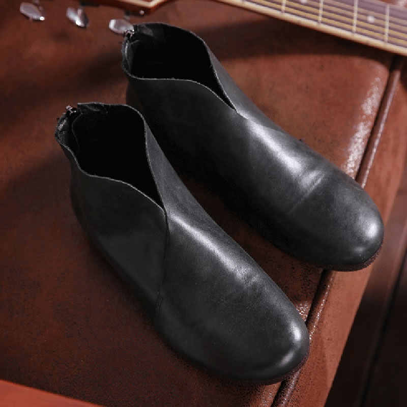 HOVINGEwomens echtem leder schuhe stiefeletten hausschuhe Sommer stiefel grau/braun/schwarz frühling frau footwearE044