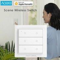 Aqara Opple Draadloze Scène Schakelaar Zigbee 3.0 Aanpasbare Draadloze Controle Muur Schakelaar Geen Bedrading Nodig Ondersteuning Apple HomeKit