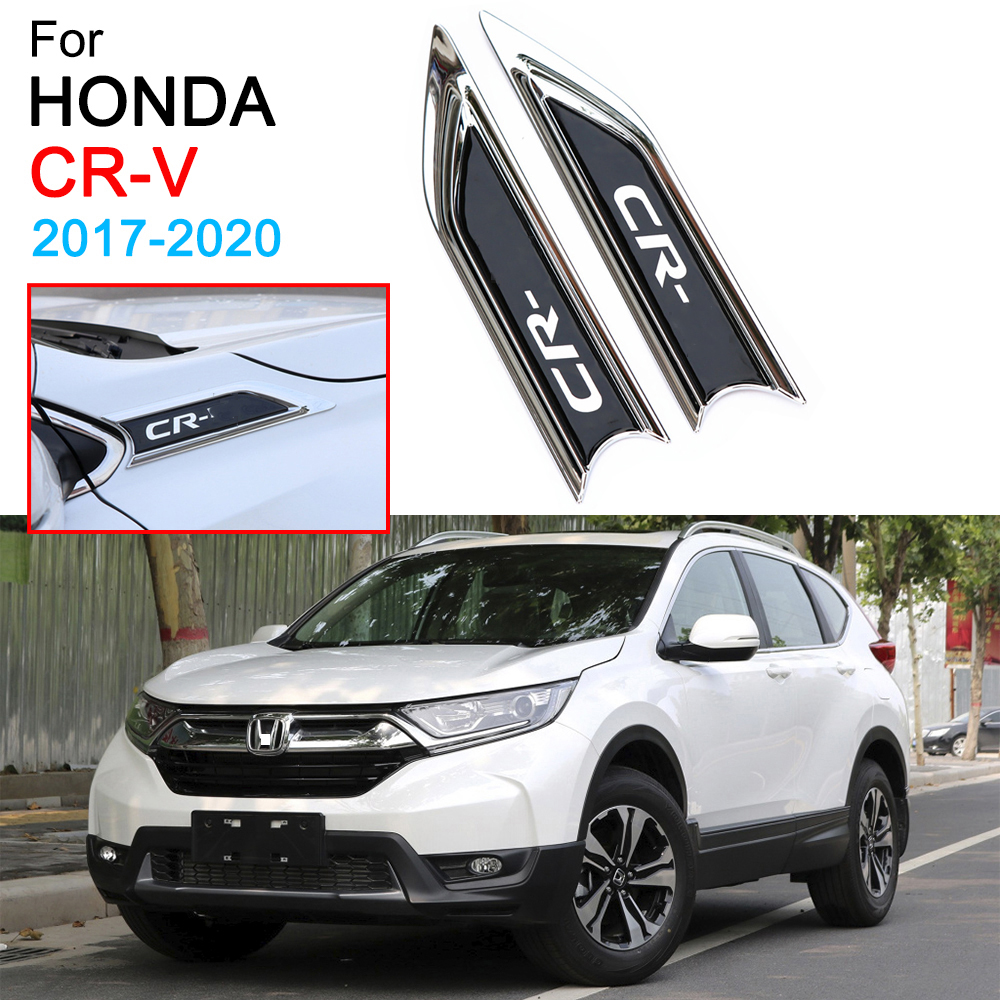 Car Emblem Sticker Outer Front Side Fender Body Trim Covers for Honda CRV 5th Accessories 2017 2018 2019 2020