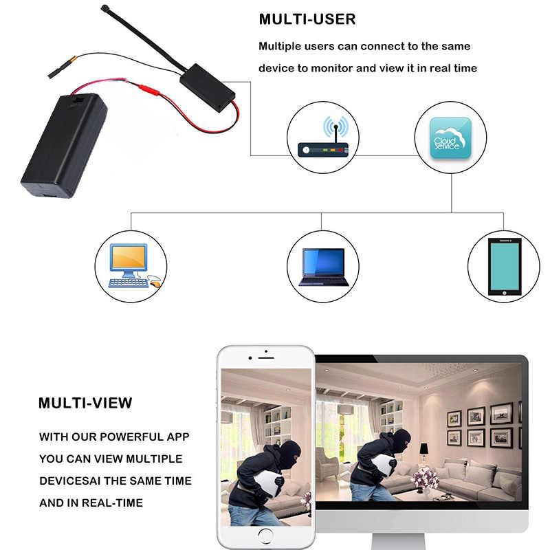 Hd 1080P Diy Draagbare Wifi Ip Mini Camera P2P Draadloze Micro Webcam Camcorder Video Recorder Ondersteuning Remote View Verborgen tf Card