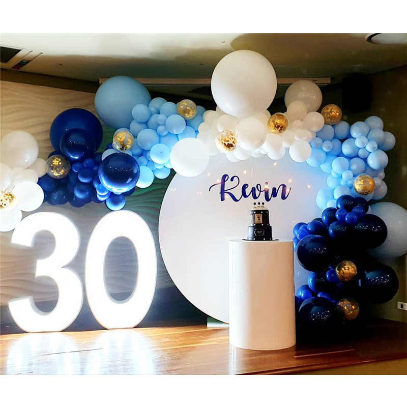 174pcs Big White Gold Confetti Transparent Balloon Garland Arch Kit adult 30st Birthday Party Decorations Anniversaire Supplies