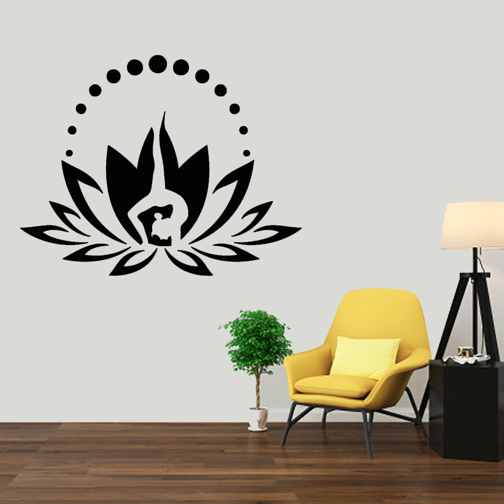 Om Namaste Yoga Lotus Flower For Car Window Truck Laptop Vinyl Decal Sticker
