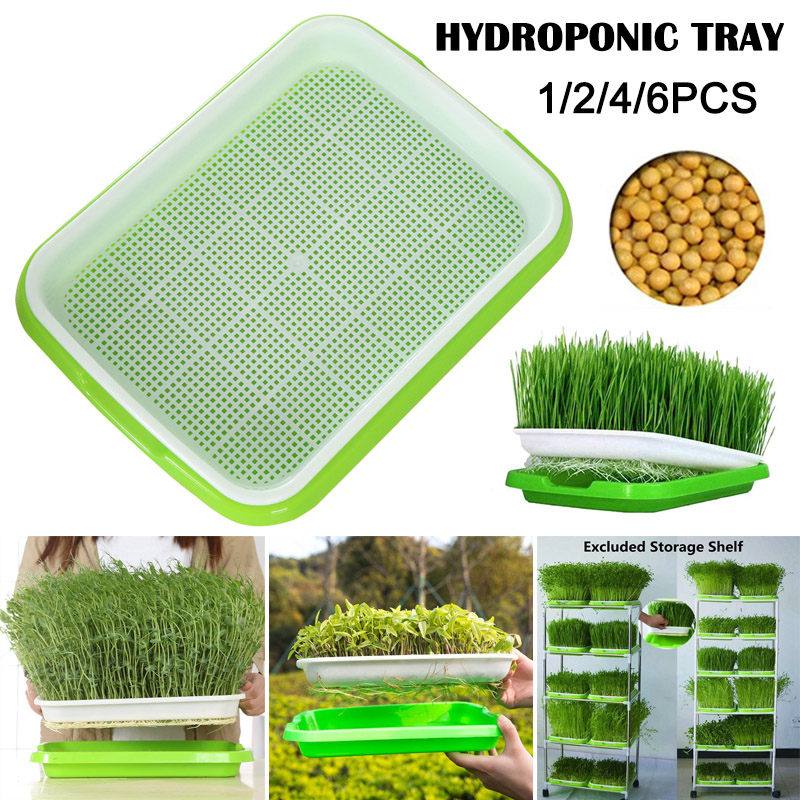 Seed Sprouter Tray Plant Germination Plastic Nursery Pots Seed Sprouter Trays Double Layer Hydroponics Basket QP2